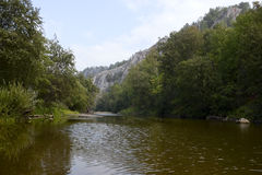 River in a mountain gorge Stock Photography