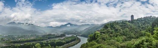 Overlooking water conservancy of dujiangyan Stock Images