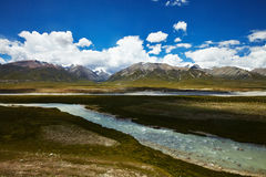River and mountain landscape in Tibet Stock Image