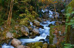 River mountain in National Park of Peneda Geres royalty free stock photo