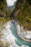 River and mountain in Taroko National Park Stock Images