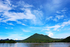 River and mountain. In thailand Stock Images