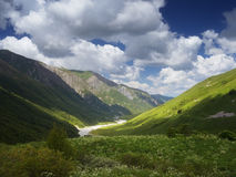 River in a mountain valley Stock Images