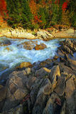 River in mountaines at autumn Royalty Free Stock Photo