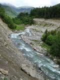 River between mountains. River comming out between Parang mountains in Romania Royalty Free Stock Photo