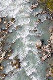 The river in the mountains. Top view Royalty Free Stock Photo