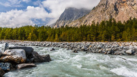 River and Mountains Stock Images