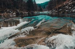 River in the mountains of bukovel royalty free stock images