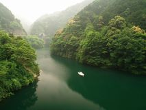 River in the mountains in Japan Stock Images