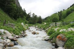 River in the mountains. Journey to the Dream royalty free stock photography