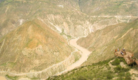 A river through the mountains Stock Photography