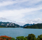 River and mountains Ratchaprapha Dam Surat Thani province,Thaila Stock Photos