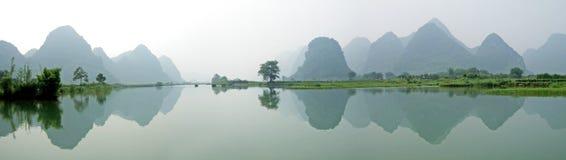 River, Mountains and shadows Stock Photos