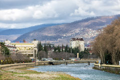 River and mountains. Sochi. Russia Royalty Free Stock Photography