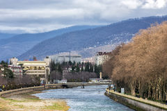 River and mountains. Sochi. Russia Stock Photo