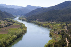 River and Mountains. View of a river landscape with Mountains are in the background Stock Images