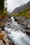 River, mountains and woods. Stock Images
