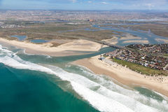 River Mouth and Estuary from the Air stock images