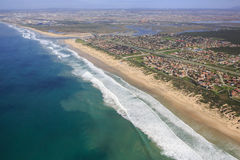 River Mouth and Estuary from the Air Stock Photo