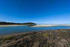 River-mouth at Kenton-on-Sea Royalty Free Stock Photo