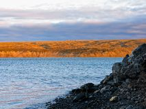 In river mouth Sachaniha on Novaya Zemlya Royalty Free Stock Image