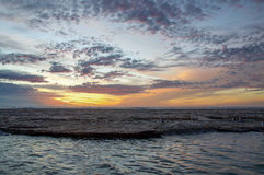 River Mouth at Sunset: Kalbarri royalty free stock photography