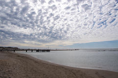 River Mouth at Twilight: Kalbarri stock images
