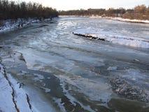 river, mrożone Obraz Royalty Free