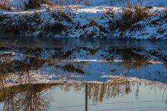 river, mrożone Zdjęcia Royalty Free