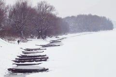 river, mrożone zdjęcia stock