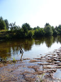 River mud. In the summer Stock Images