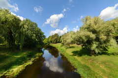 River Mukhavets surrounding the Brest Fortress. Royalty Free Stock Photos