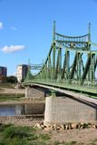 River Mures suspension bridge Royalty Free Stock Images