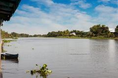The river Nakhon Chai Si. Along the river Nakhon Chai Si stock photography