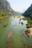 River Nam Ou near Nong Khiao in Laos Royalty Free Stock Image