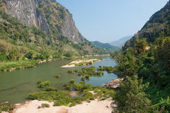 River Nam Ou near Nong Khiao in Laos Stock Image