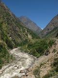 River named Bhote Kosi. Border Nepal-Tibet Royalty Free Stock Photo