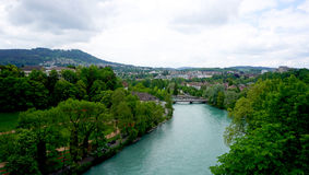 River and nature in bern Stock Photos