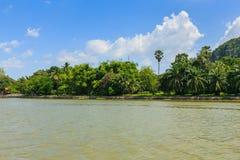 River nature with mountain ,kanchaburi Stock Image