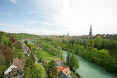 River near the ancient city of Bern Royalty Free Stock Images