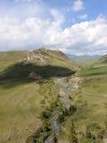 River. Near At-Bashi in naryn region, Kyrgyzstan Royalty Free Stock Photos