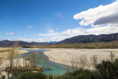 River near Digne les Bains in the Alps Royalty Free Stock Photo