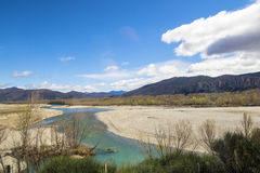River near Digne les Bains in the Alps Royalty Free Stock Photos