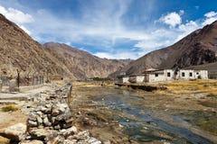 River near Himalayan village Stock Photos