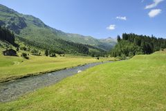 River near Olivone, Switzerland Stock Images