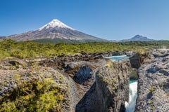 River Near Osorno Volcano Stock Images