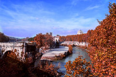 River near the Red Trees. Shoot with canon 5d iii in Italy Stock Photo