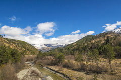 River near the small village of Le Vernet in the Alps Stock Photography