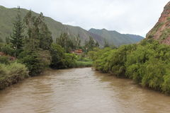 River. The river near urubamba runs in peru Royalty Free Stock Photos