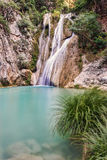 River Neda Waterfalls. Beautifull green water and waterfalls at Neda river in Peloponnese, Greece Royalty Free Stock Image